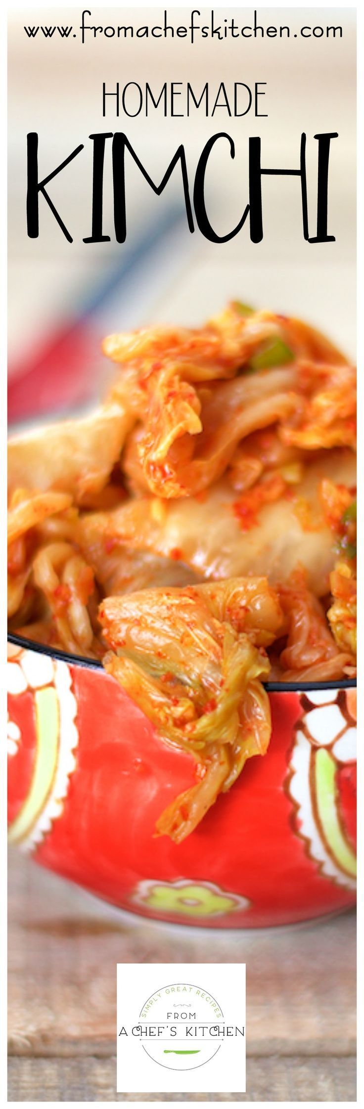This easy homemade version of Kimchi keeps for weeks in your refrigerator!