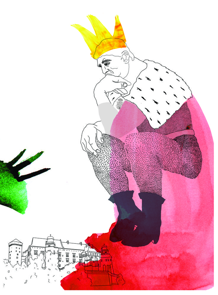 """Wawelski Dragon"" illustration, 2011, http://www.elizadanowska.pl/"