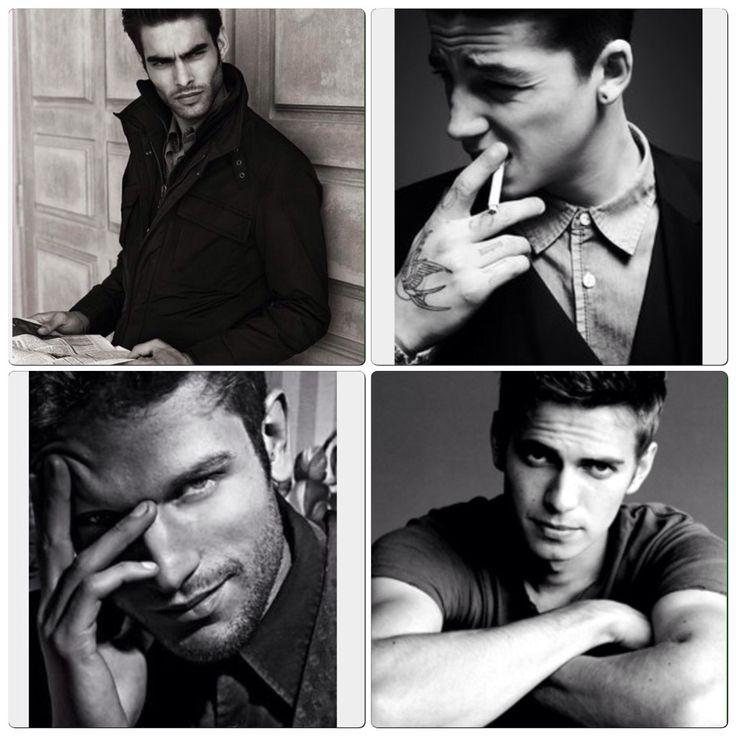 Мужчины черно-белый портрет