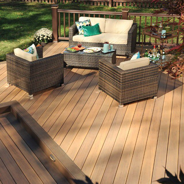 Low Maintenance Timbertech Tigerwood Decking With Mocha