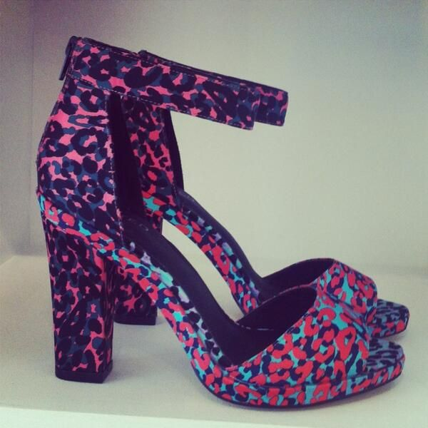 M&S - Block heel graphic print platform shoes