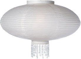 White 18 Inch Oval Bejeweled Designer Paper Lantern by Cultural Intrigue. $19.00. Rice Paper Lanterns Decorated with Cuffs and Sparkly Faceted Beads. Very Popular for Weddings and Formal Event Decorations. These Premium Lanterns can be used with most ceiling fixtures, cord sets and our LED light, making them very versatile for both home use and party decoration.