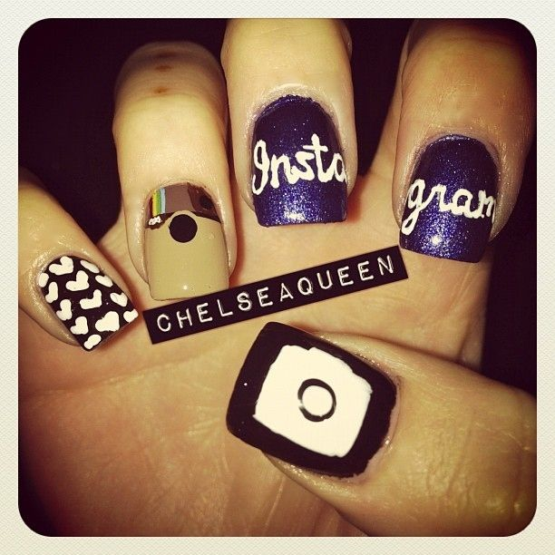 Instagram nails...literally @Erika Delany We need these!