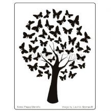 Sweet Poppy Stencil: Butterfly Tree (With images
