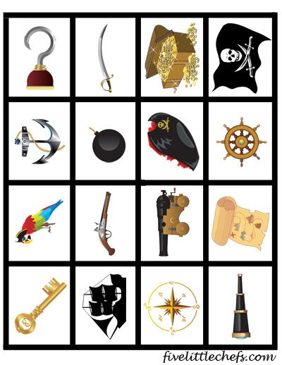 Pirate Matching Game from fivelittlechefs.com #printable #kidscrafts #pirate