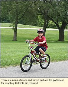 There are miles of roads and paved paths ideal for bicycling at Hamlin Beach State Park in the Finger Lakes #FingerLakes. Helmets are required.