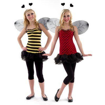 Reversible bijen/lieveheersbeest kostuum kind/tien