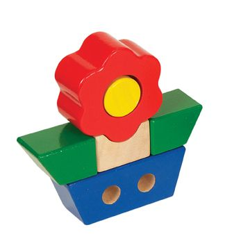 Guidecraft Primary Puzzle - Flower. The big, chunky pieces of these colourful puzzles are easy for toddlers and preschoolers to grasp. Suitable for children 12 months+ $16.00 #educationaltoys #toddlerstoys #toys