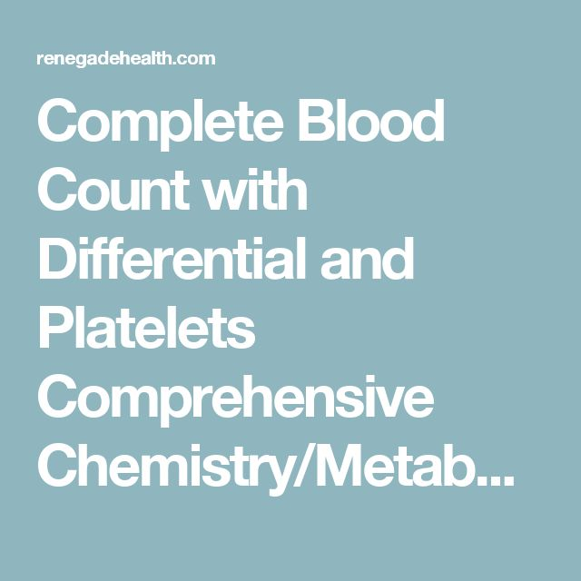 Complete Blood Count with Differential and Platelets Comprehensive Chemistry/Metabolic Panel Ferritin Folic Acid Homocysteine Iron, total and IBC Lipid Panel Methylmalonic Acid, Serum Vitamin B12 Vitamin D3, 25 Hydroxy