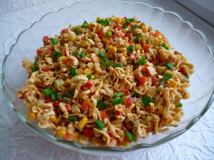 Gotuj z Cukiereczkiem: Sałatka z zupek chińskich