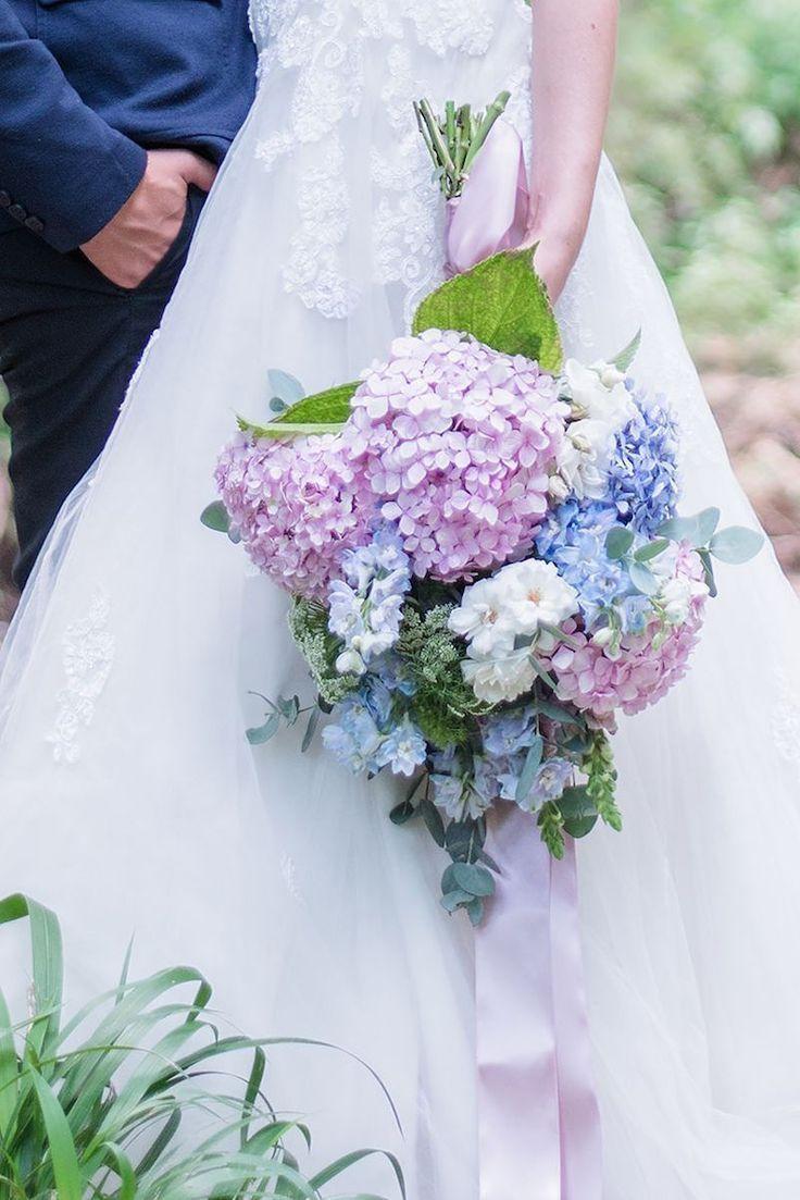 Sweet Hydrangea Wedding Inspiration Hydrangea Bouquet Wedding