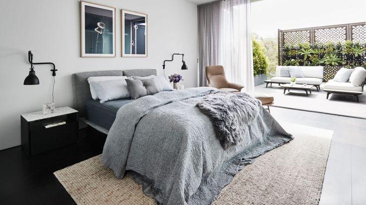 Rebecca Judd's bedroom and outdoor terrace.