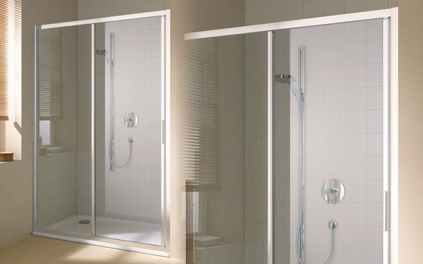 17 meilleures id es propos de paroi de douche - Porte de douche coulissante 3 volets ...