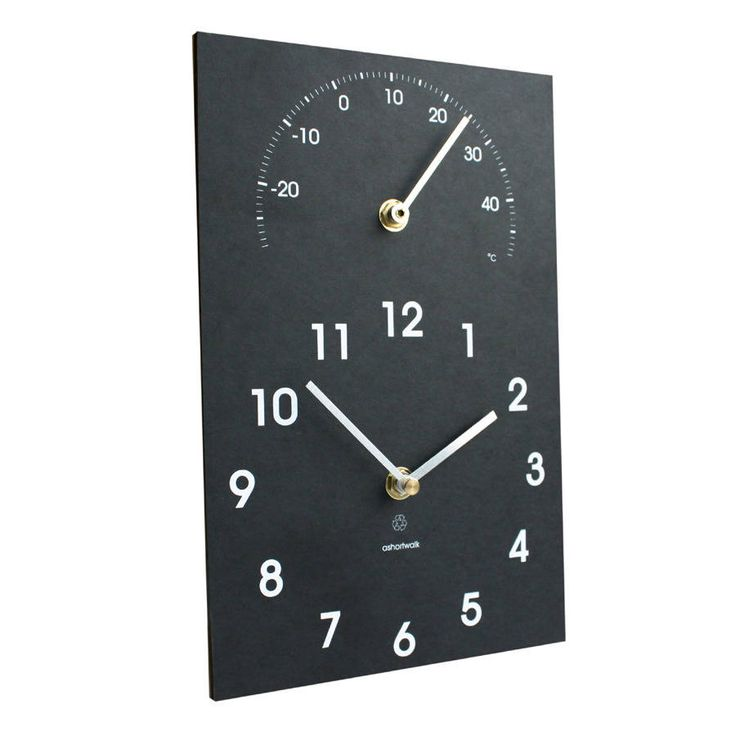 Eco Outdoor Wall Clock And Thermometer