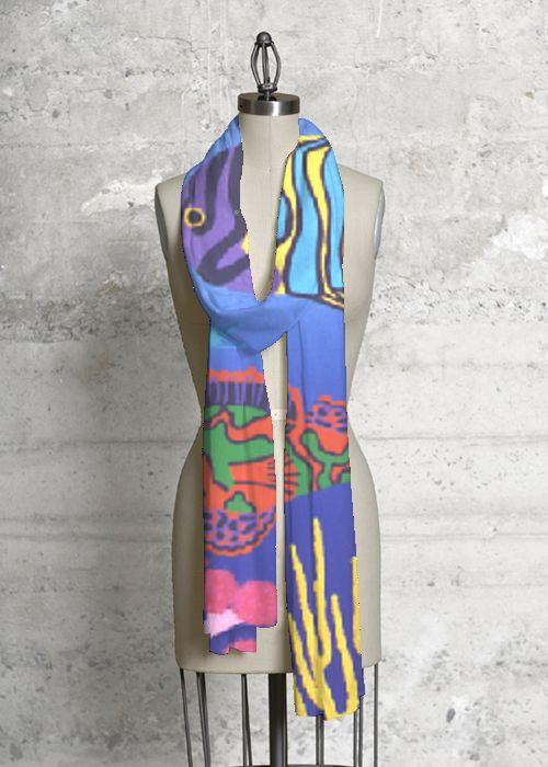 Joanne Netting Design - Reef 1 Modal Scarf for VIDA Design Studio