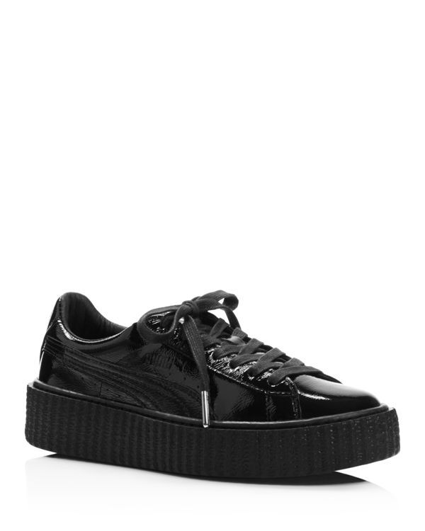 Fenty Puma x Rihanna Women's Patent Leather Creeper Platform Sneakers