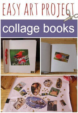 Collage books are an easy craft for kids