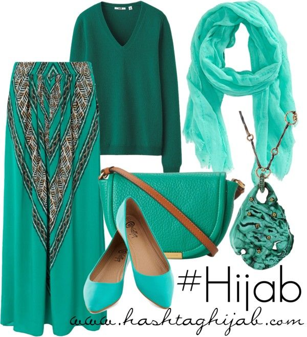 Hashtag Hijab Outfit: Too much green?
