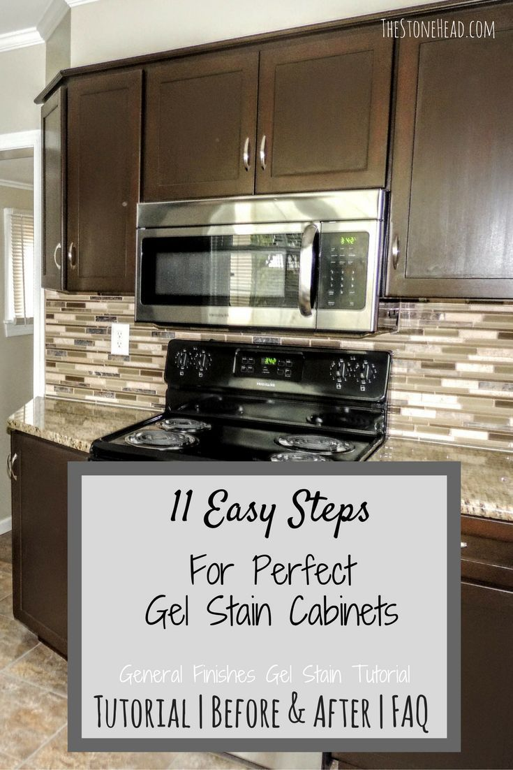 I Gel Stained My Kitchen Cabinets And My Bathroom Cabinets Check Out The Easy To Follow Tuto Staining Cabinets Refinishing Cabinets Gel Stain Kitchen Cabinets
