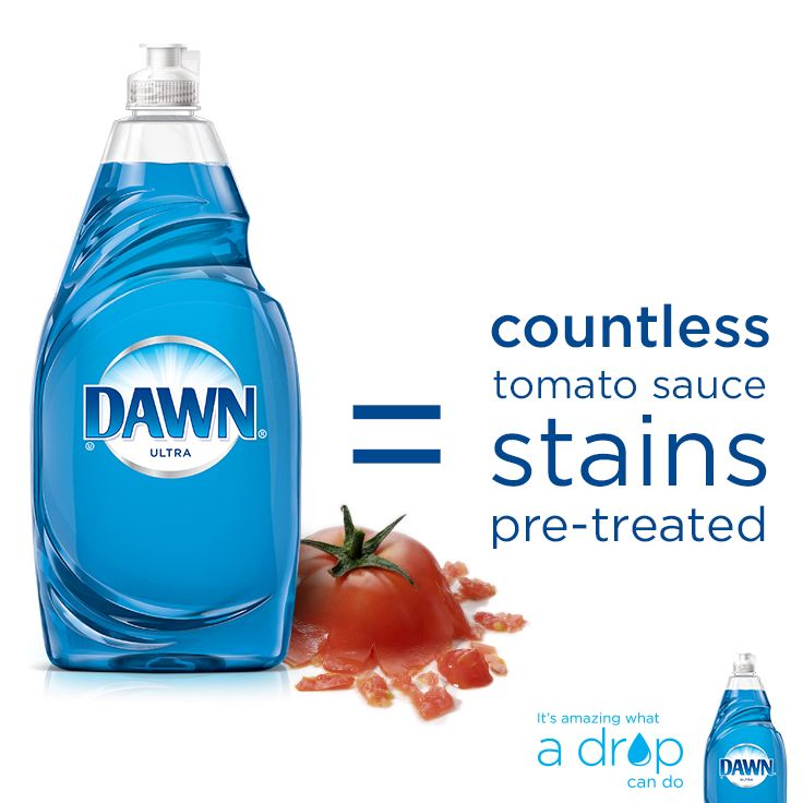 Pasta night? Wear white with confidence. Check out dawn-dish.com/beyondthesink for more stain removal tips. #cleaninghacks