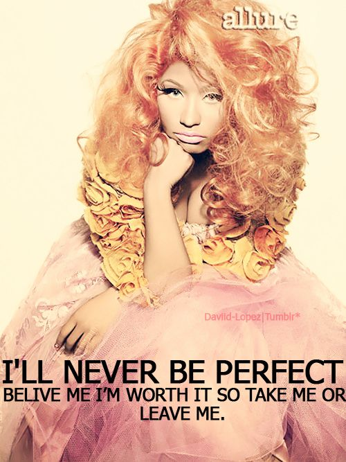 Minaj -rarely wise quote