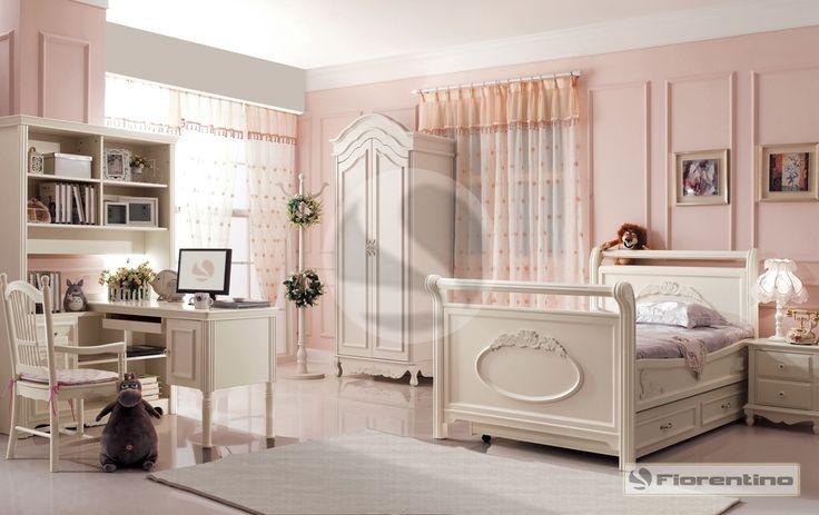 Meble dla dzieci, meble dla młodzieży i łóżka dla dziecka – meble dla dziewczynki   Fiorentino Exclusive 801