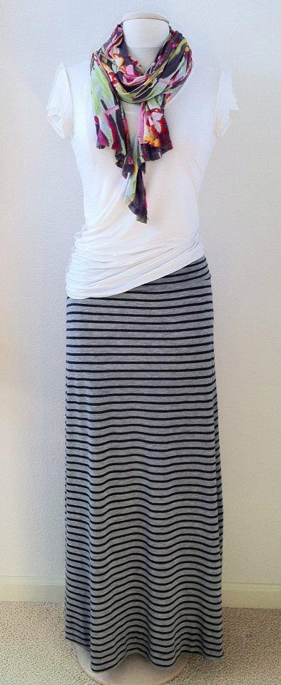 Best 25  Striped maxi skirts ideas on Pinterest | Maxi skirts ...