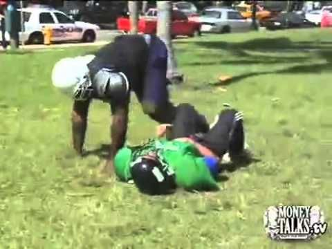 Kimbo Slice Fights it all Kimbo Football Video Street Fight