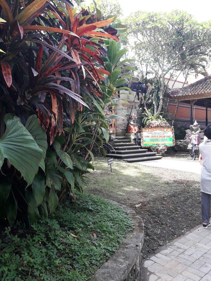 Ubud palace garden  in Bali