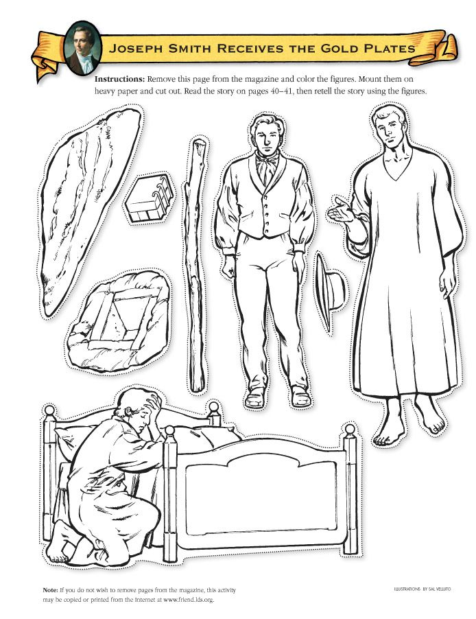 188 best Primary Stuff images on Pinterest Joseph smith, Lds - copy coloring pages of joseph and the angel