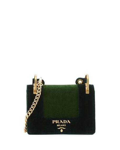 a08f7dc84c70 PRADA Cahier Velvet Shoulder Bag