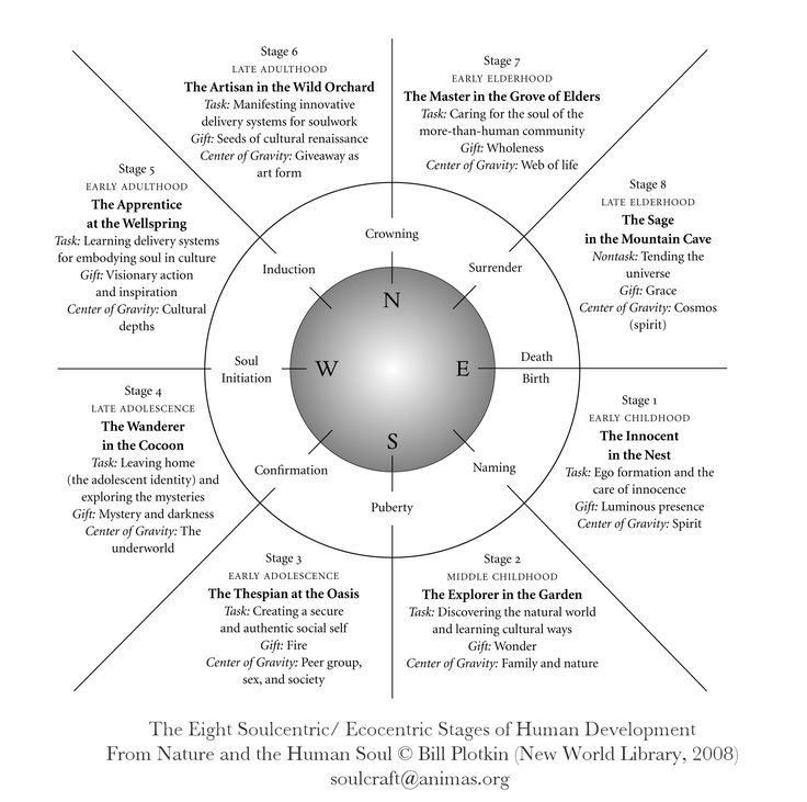 """""""What you find in nature is what works. It wouldn't be there if it didn't. Boundless wisdom awaits."""" –Bill Plotkin PhD In his book Nature and the Human Soul Bill Plotkin writes a groundbreaking blueprint about authentic human development that he calls the Eight Soul-centric/Eco-centric Stages of"""