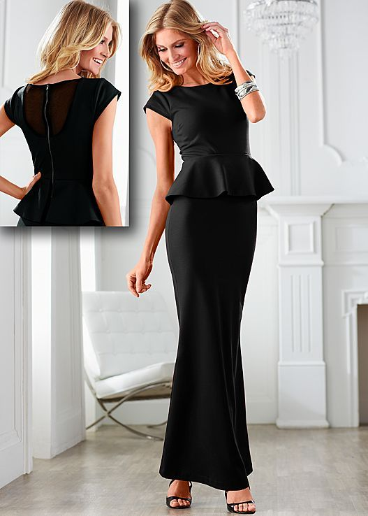 Long peplum dress in the VENUS Line of Dresses for Women