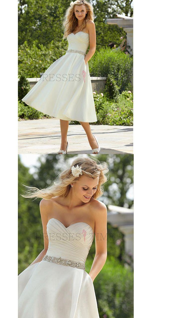 Sweetheart Empire Waist Beading Tea-length Satin Wedding dress ,Sweetheart Empire Waist Beading Tea-length Satin Wedding dress ,Sweetheart Empire Waist Beading Tea-length Satin Wedding dress