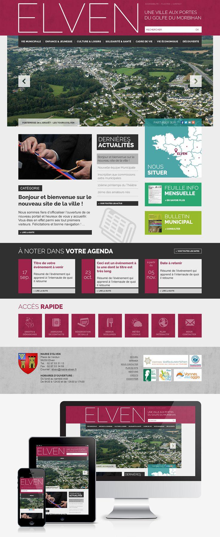 #Webdesign #Responsive #Mairie #Ville #Colterr : la refonte du site web de la ville d'Elven (56) : http://www.mairie-elven.fr