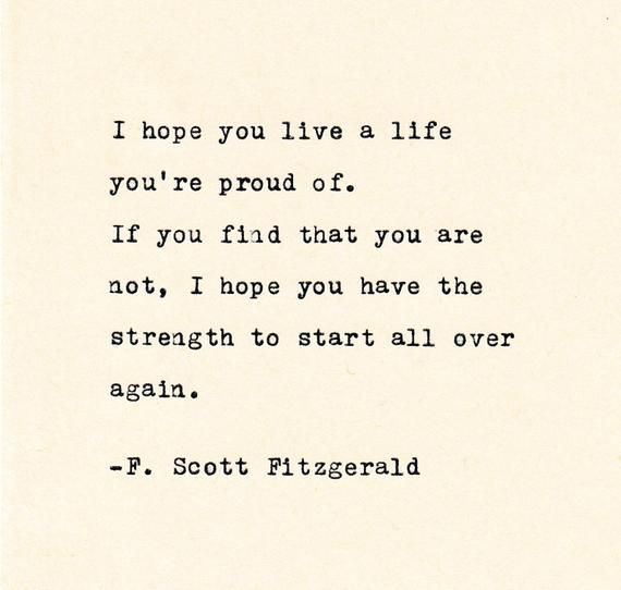 Inspirational Quote F Scott Fitzgerald Personalized Gift Etsy Words Quotes Fitzgerald Quotes Typed Quotes