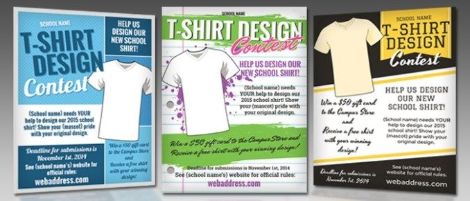 T Shirt Design Contest Maketing Flyers Inksoft Contest Design Flyer T Shirt Design Template