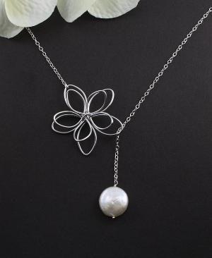 Sterling Silver Jewelry  Garden Moon Flower & by MenuetDesigns