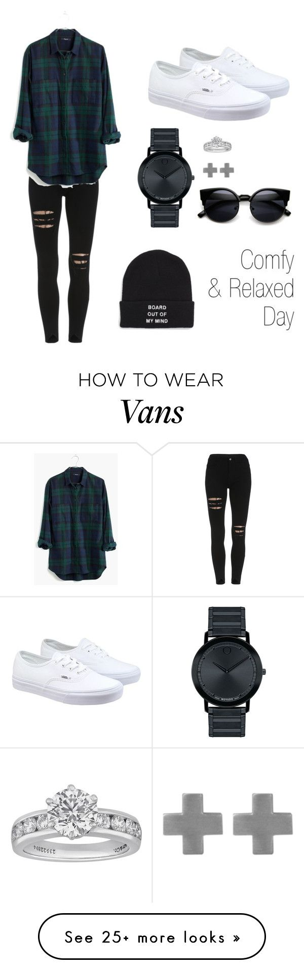 """""""Comfy and relaxed"""" by jxl048 on Polyvore featuring Madewell, Vans, Movado, Tiffany & Co. and Amberly Cross"""
