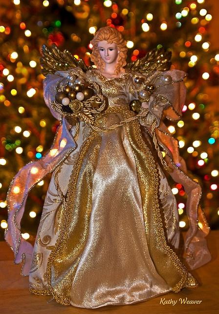 Hermoso ángel de navidad