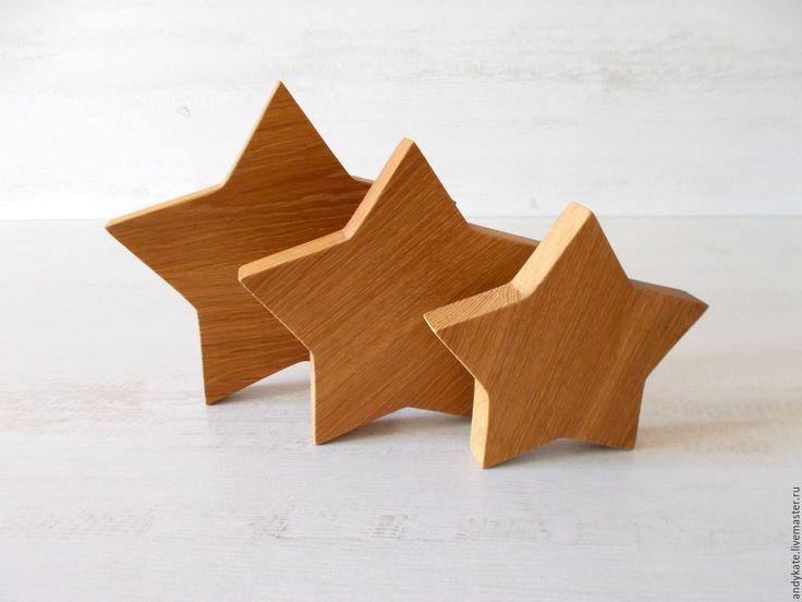 Купить Звезда интерьерная из дуба - декор для интерьера, декор для дома…