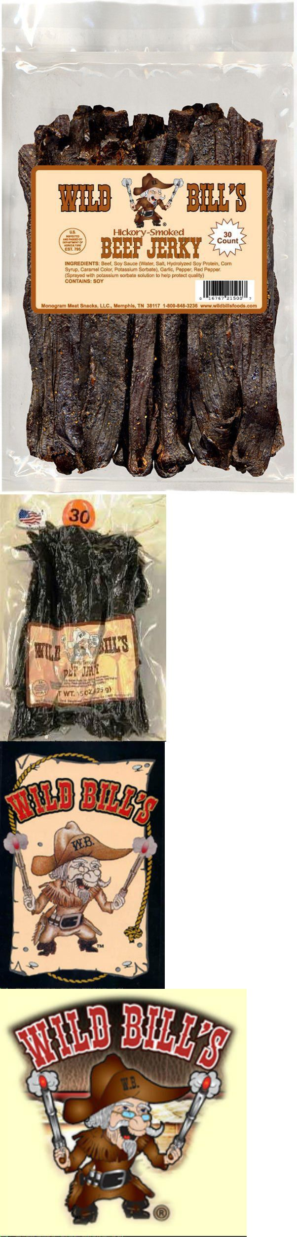 Other Candy Gum and Chocolate 14307: Wild Bill Beef Jerky Hickory Smoked 15Ounce Bag -> BUY IT NOW ONLY: $32 on eBay!