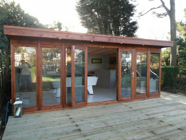 End Of Garden Summer House On Decking W Jacuzzi Sauna Bar