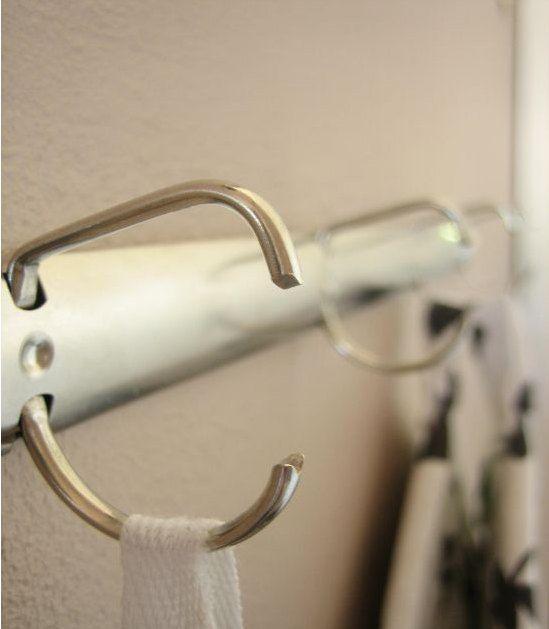 Knagerækken i gangen #knag af ringbind