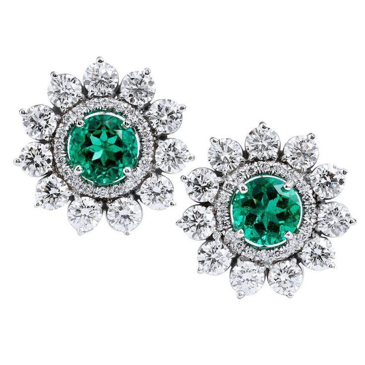 H-H-Jewels Diamond, Emerald Palladium 2.69 Carat Zambian