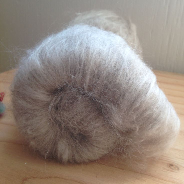 2.3oz 75-25 BFL-Angora bunny blend batt Spinning fibre natural colors by SpinHeartSpin on Etsy