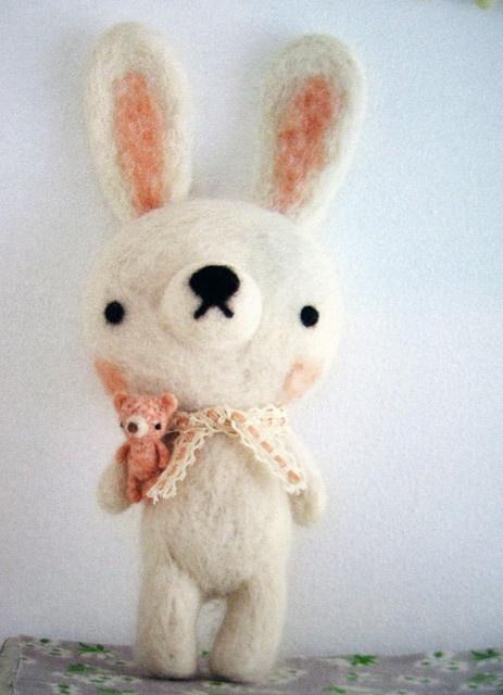 Felt...What a cute little bunny!