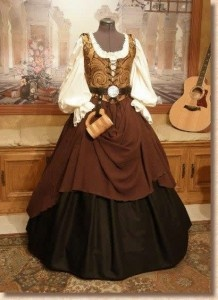 The skirt and petticoats could be used for multiple eras, just change out the bodice......