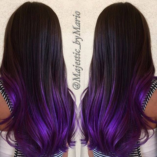 breathtaking iridescent purple hair by mario solis