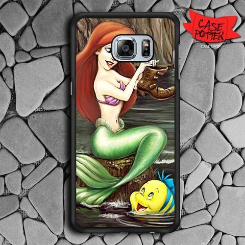 Princess Ariel Flounder Samsung Galaxy S6 Edge Plus Black Case